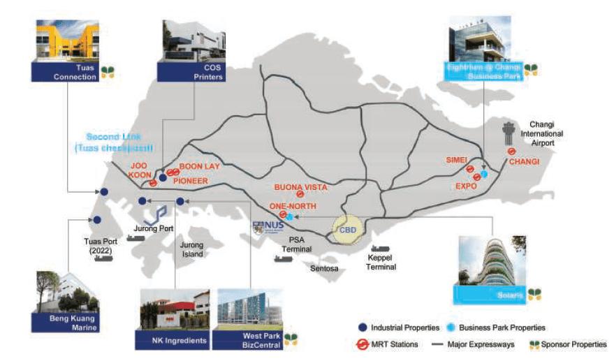 Soilbuild REIT Properties Map