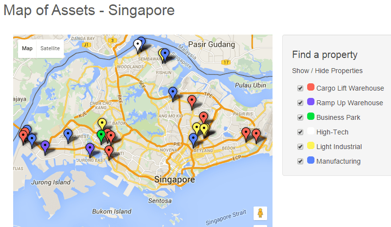 AIMS AMP Capital Industrial REIT Map Assets Oct25-2015
